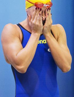 Magda Kuras simmade semifinal på 100m ryggsim och blev 15:e simmerska.