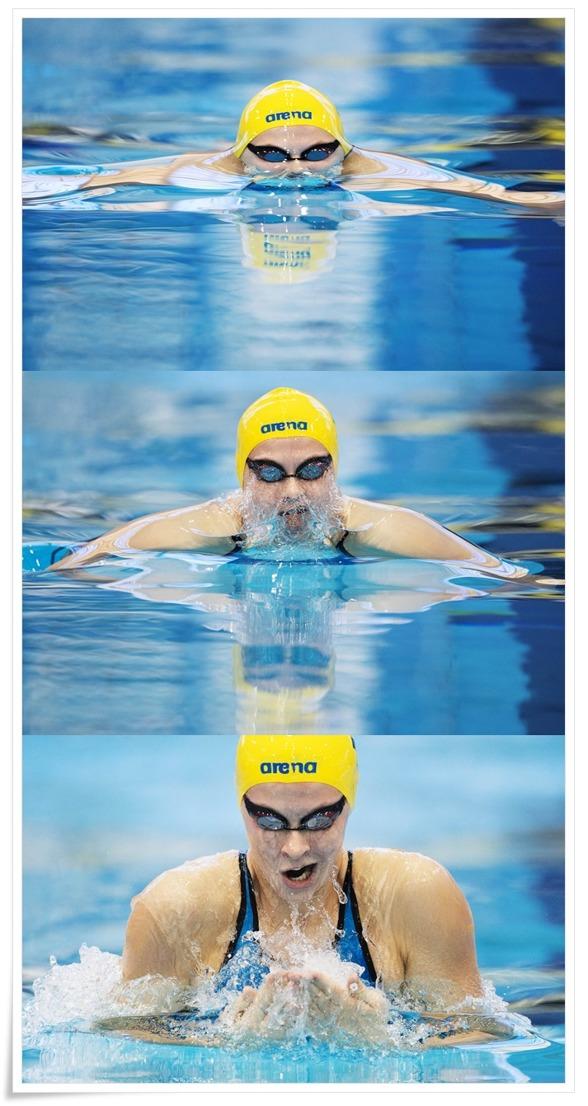 Sophie Hansson vidare till semin på 100m bröstsim