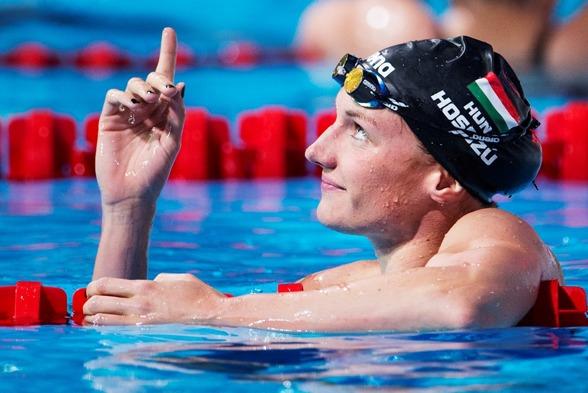 Katinka Hosszu leder 200m medley  och World Cup dominanten leder 200m medley och är favorit i finalen i morgon.