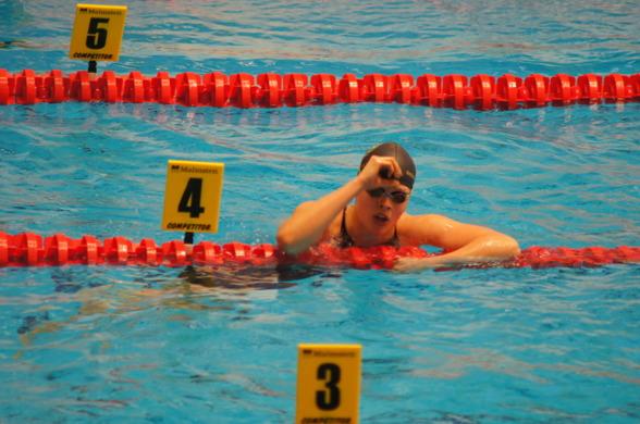 Celine Bertrand Skövde tog silver bland juniorerna på 400m fritt idag.