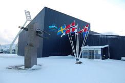 I fjol gick tävlingen på Färöarna. Så här så det ut utanför simhallen i Torshavn under NJM.