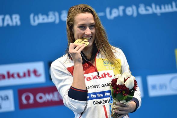 Tredje guldet till Mireia Belmonte Garcia - på 800m fritt