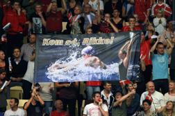 Danska supporters hejar på Rikke Möller Pedersen