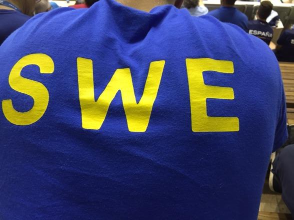 Team SWE på läktaren