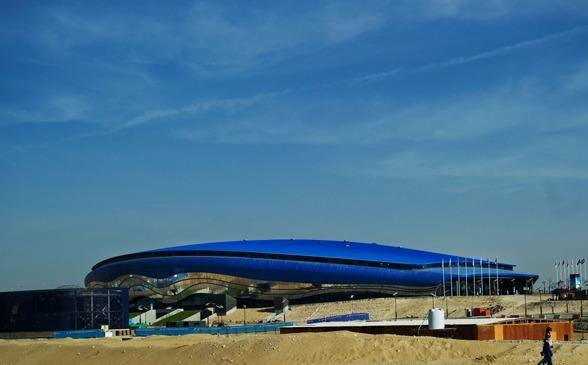 Hamdan bin Mohammed bin Rashid Sports Complex i Dubai - där simningar arrangeras