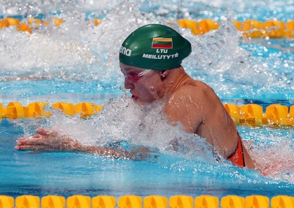 Ruta Meilutyte, Litauen - dominant på Junior-VM