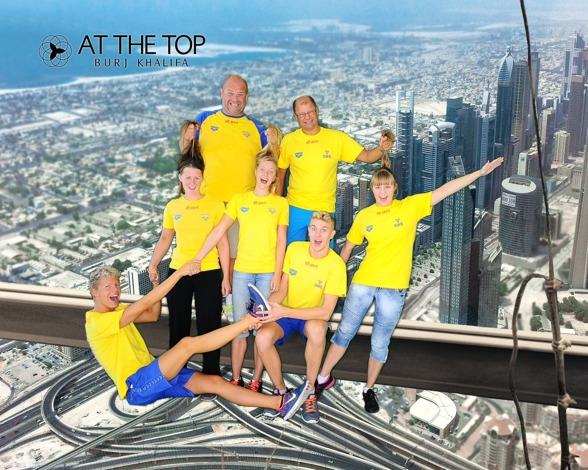 """Inga svenskar i tävling idag och då är det ett måste att besöka Burj Khalifa - världens högsta byggnad - 828 meter hög. Klicka på bilden så kan du läsa mer om detta """"byggmonster""""....."""