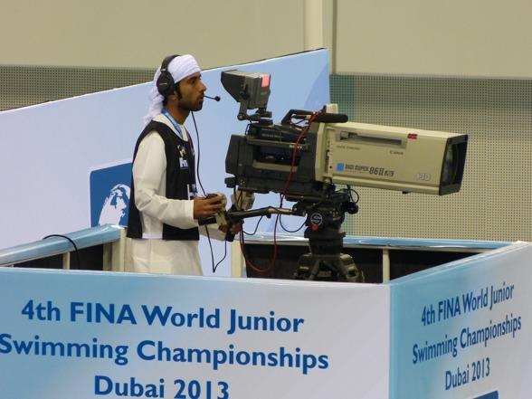 Kameranmännen i Dubai - något annorlunda än hemma.