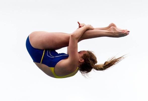 Isabelle Svantesson slutade som 16:e tjej på 10m, här under EJM 2014. FOTO: Chris Rye