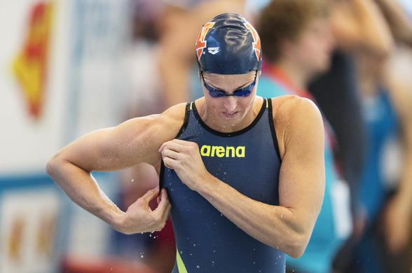 Swim Open Stockholm: Therese Alshammar gjorde sitt andra lopp för året - när hon simmade försöken på 50m fjärilsim i Eriksdalbadet