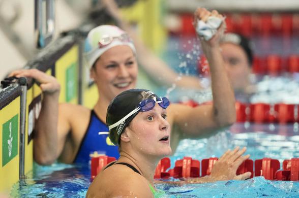 Stina Gardell och Ida Marco Varga gjorde fina simningar på 200m fritt