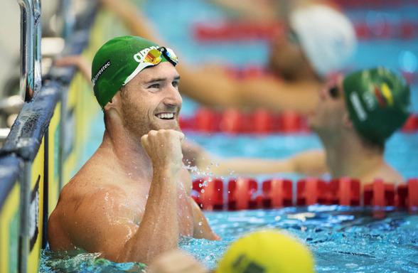 Cameron van der Burgh vann 100m bröstsim på en tid som är den nästa bästa under 2016 på dsitansen.