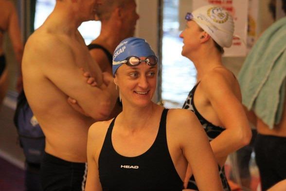 Johanna Sjöberg inledde sim Masters-karriär med att slå Nordiskt rekord på 50m fritt