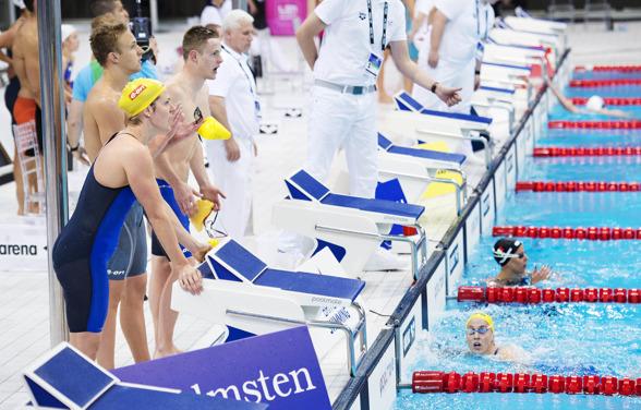 Ida Lindborg landar det svenska  laget till en tredjeplats på 4x100m mixed medley
