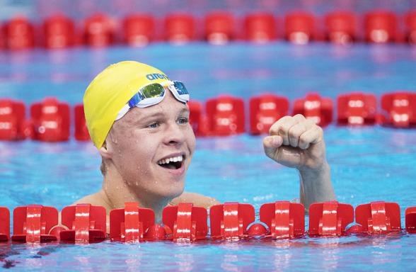 Victor Johansson slog det gamla svenska juniorrekordet på 1500m fritt - i försöken.