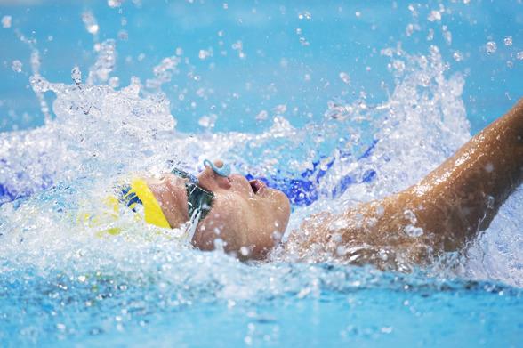 Hnreitte Stenkvist blev 32:a simmerska på 100m ryggsim idag