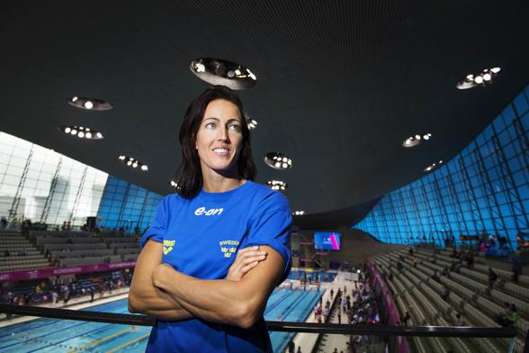 Therese Alshammar ligger fyra i statistiken på 100m fritt.