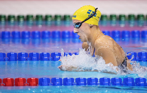 Jessica Eriksson tangerade sitt personliga rekord på 200m bröstsim i dagens semifinal
