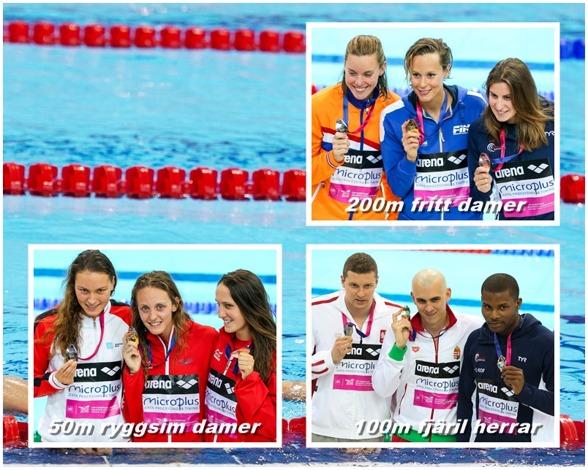 Medaljörer från lördagens finaler