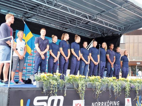 Simtruppen till OS presenterades i Norrköping inom ramen för invigningsprogrammet.