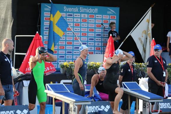 Spårvägen på bana 5 jagar sin första 4x100-titel på 22 år och lyckas !!!!!