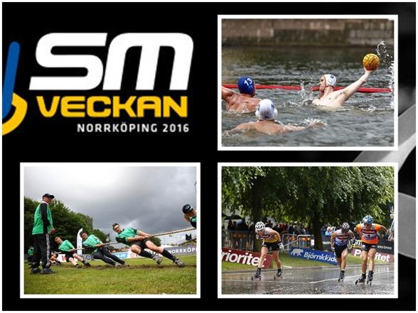SM-veckan är mer än si9mning. Massor med andra idrotter syns i Norrköping - på gator och torg och inte minst i kanlen