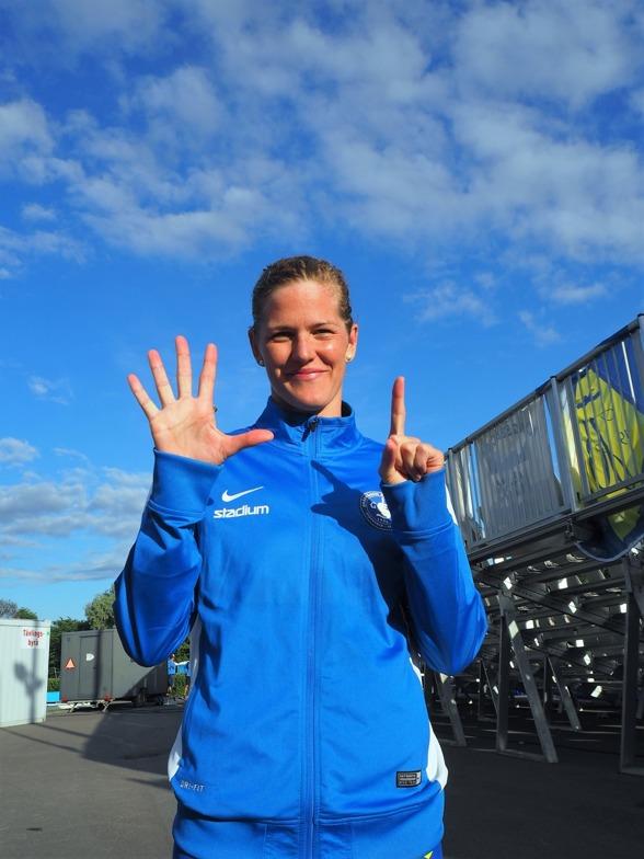 Sjätte raka titeln på 400m medley damer - för Stina Gardell, Spårvägen.
