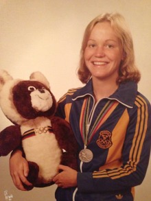 Agneta Mårtensson (Baron) simmade OS-final på 200m fjärilsim 1980