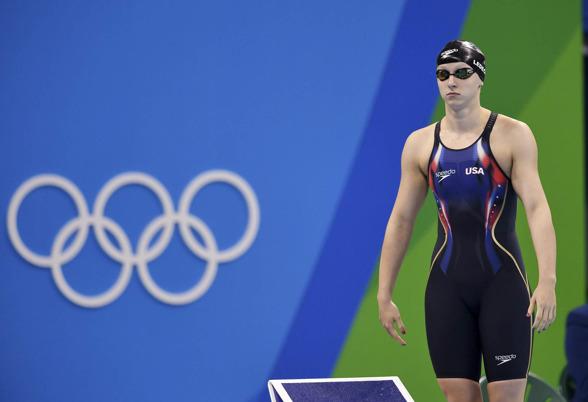 Tävlingarnas största favorit - Katie Ledecky på 800m fritt