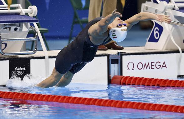 Katinka Hosszu klart i spetsen på damernas 200m ryggsim