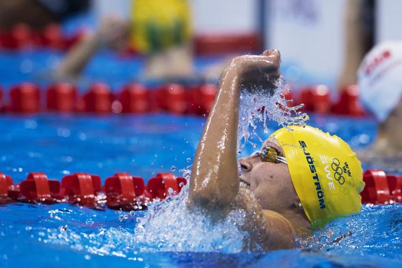 Brons till Sarah Sjöström på 100m fritt
