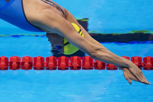 Alshammar i vattnet på 50m fritt
