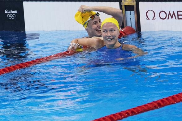 Bronte Campbell och Sarah Sjöström