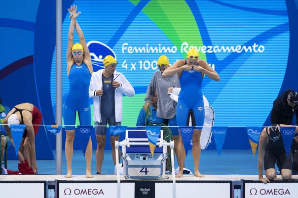 Medleylaget missade finalen och blev nior i försöken.