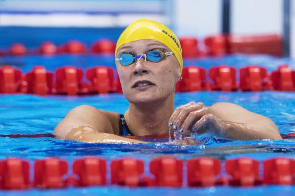Sarah Sjöström utslagen på 50m fritt i natt.