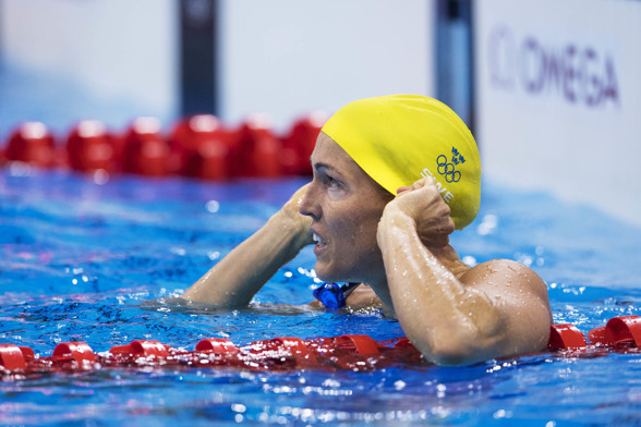 Therese alshammar gick inte vidare på 50m fritt i nattens semifinaler på 50m fritt
