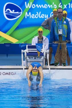 Michelle Coleman startar i medleylagkappen.