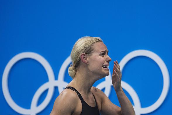 Pernille Blume vann OS-guld på 50m fritt