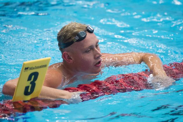 Jesper Björk vann 50m fjärilsim ikvällens final
