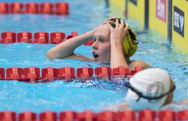 Hanna Eriksson vann 800m fritt.
