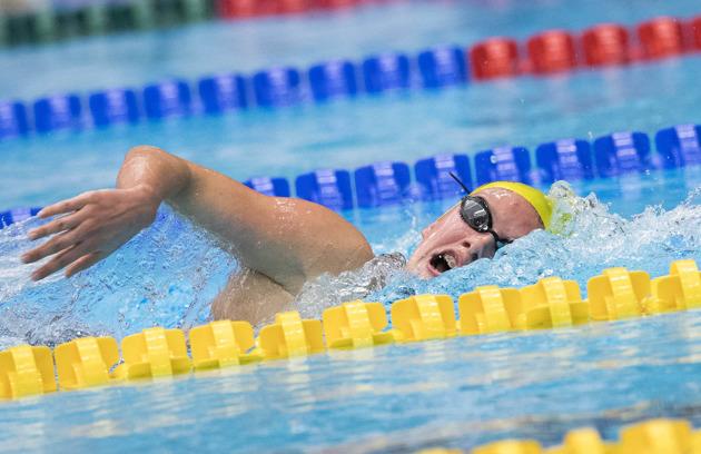 Hanna Eriksson vann sitt femte JSM-guld genom att simma ifrån allt och alla på 200m fritt idag.