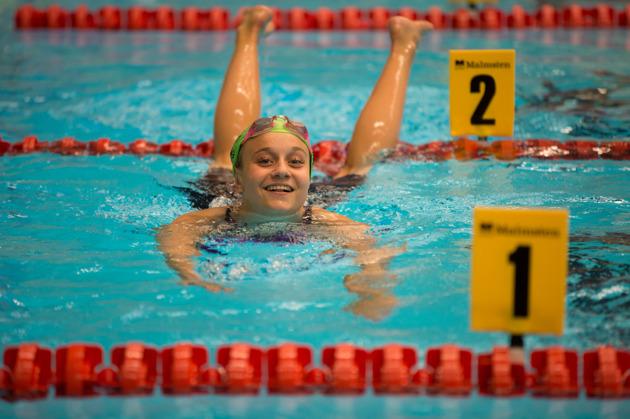 Hanna Rosvall vann 200 meter ryggsim