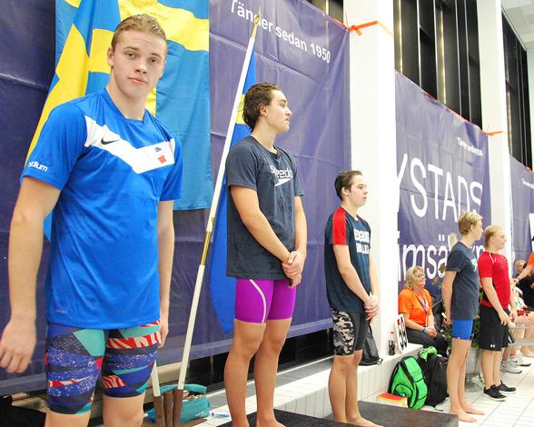 Ystad- prispallen - Primus Olsson, Dennis Dukic, Dante Vollmer, Gustav Persson, Anton Jönsson