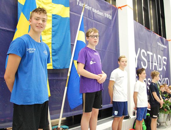 Ystad- prispallen - Arvid Nilsson, David Falk, Hugo Stenskepp, Joel Henriksson, Lukas Miderbäck