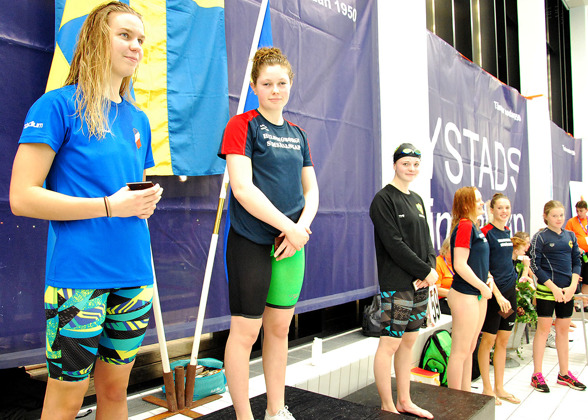 Ystad- prispallen - Stina Lindberg, Sarah Wallin, Tea Gladher, Alva Ericsson, Nelly Rasmusson, Tilde Lantz
