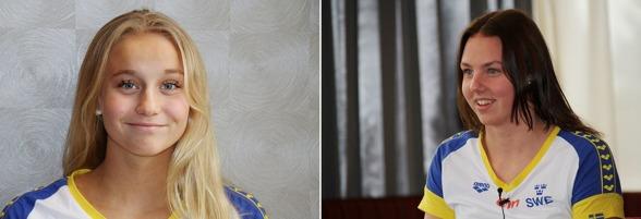 Födda på 2000-talet, exakt på året 2000 och landslagdebutanter - Hanna Rosvall Ängelholm och Sara Junevik, Falun.