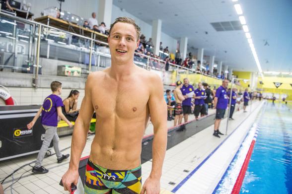 Erik Persson vann 100m brstsim dag och 200 meter igår
