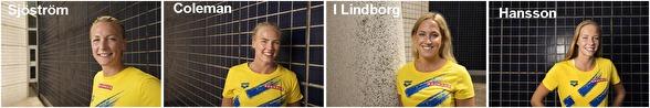 Svenska lagkappslaget på 4x100m fritt - klicka på bilden - så blir den större