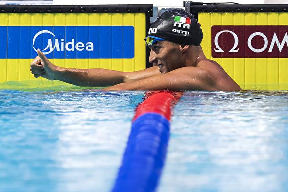 Gabrielle Detti vann 800m fritt.