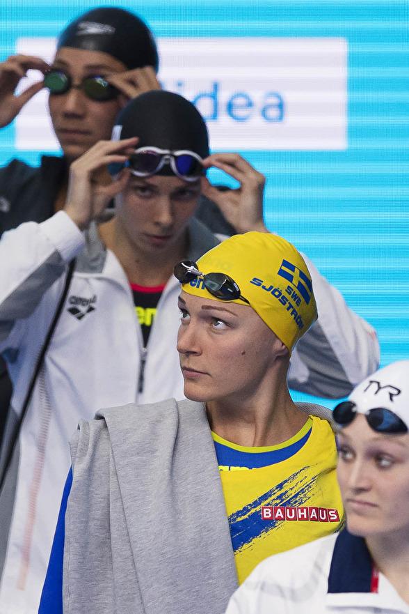 Sarah Sjöström - en av två¨svenskor på 50m fjärilsim idag.